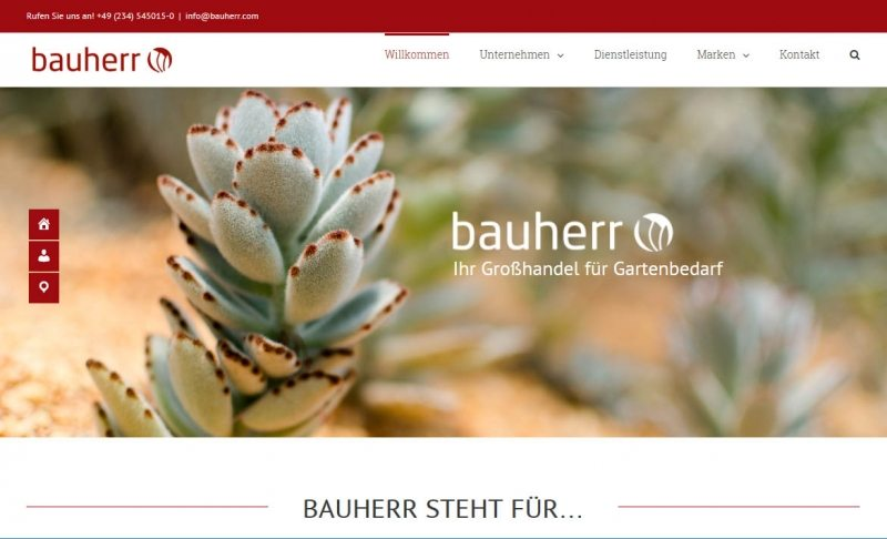 Screenshot Bauherr Webseite